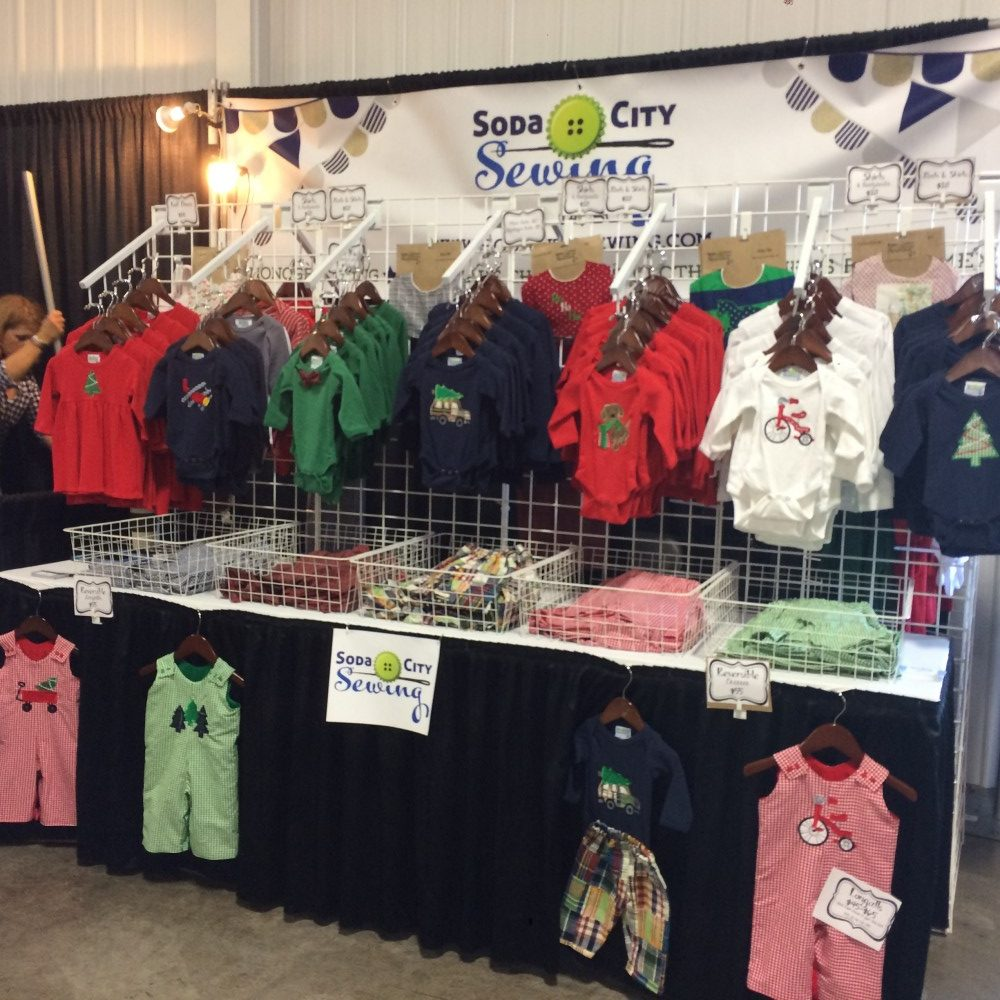 soda city sewing craft fair table booth