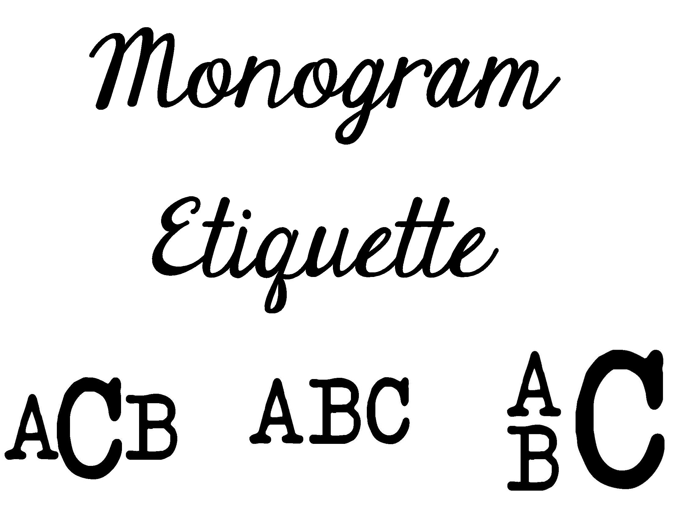monogram etiquette tips and tricks for monograms