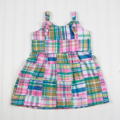 madras plaid dress for girls