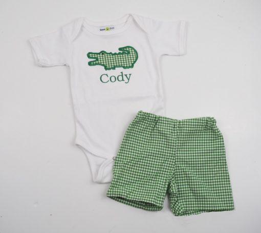 alligator shirt and shorts