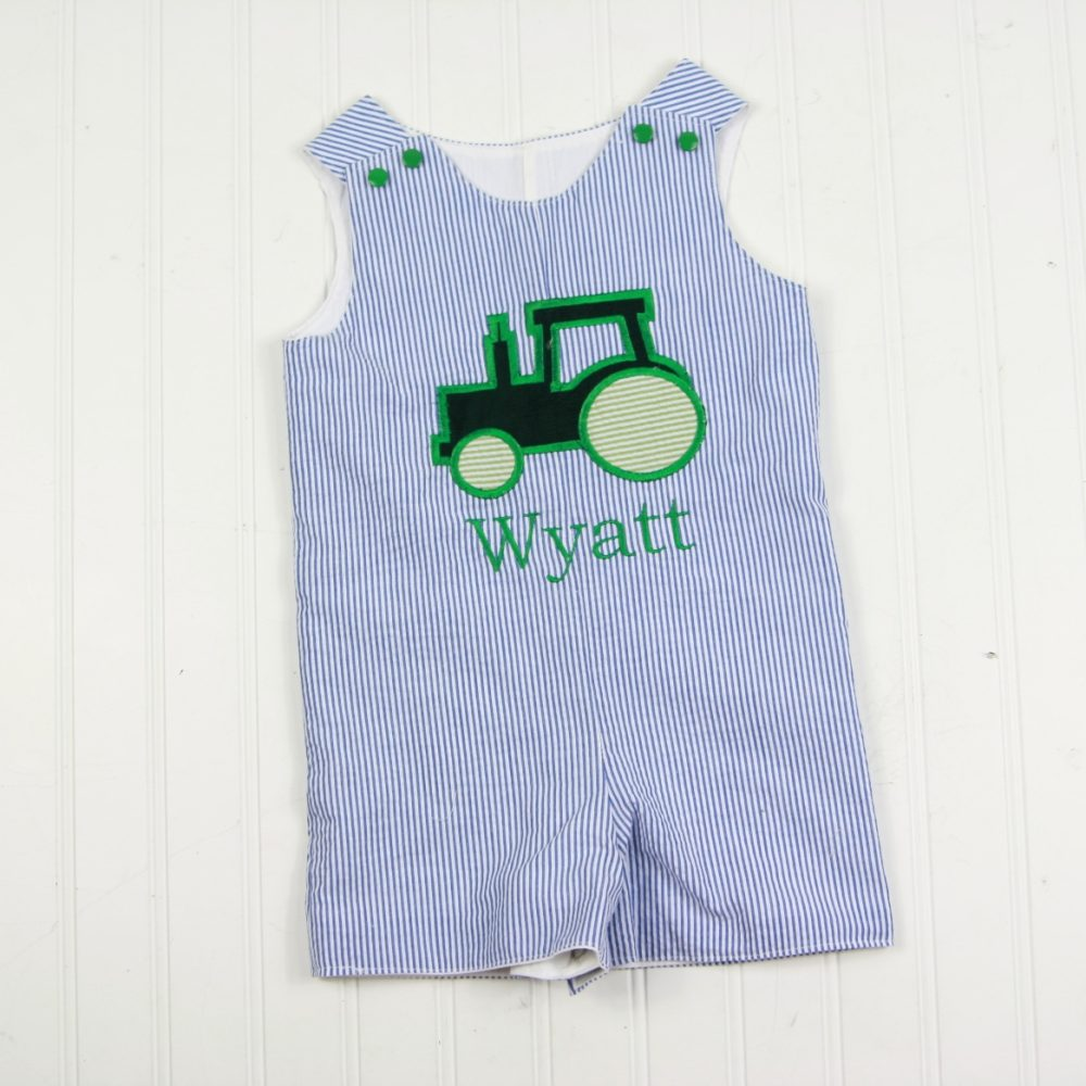 baby boy tractor outfit