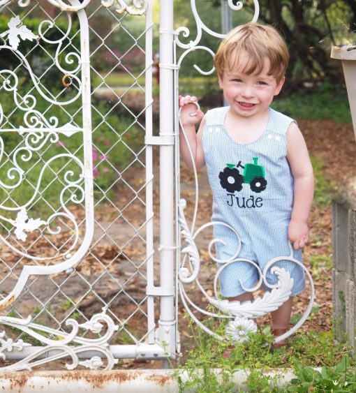 little boys rompers personalized
