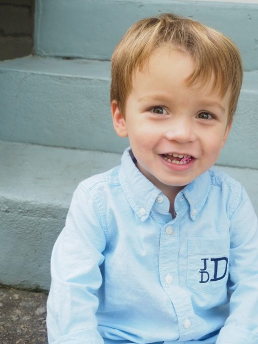 monogrammed oxford shirt for boys