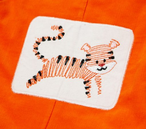 vintage stitch tiger embroidery