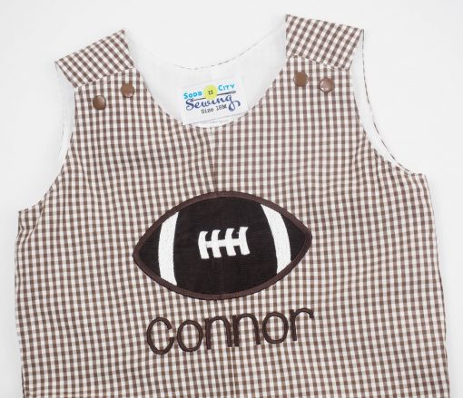monogrammed football outfit for boys
