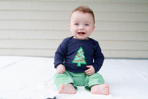 baby boy christmas tree shirt pants set