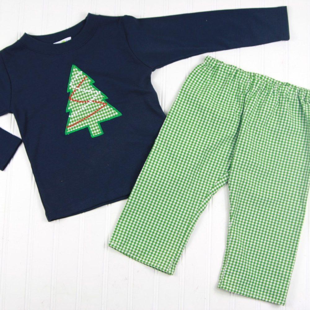 boys christmas pants and shirt