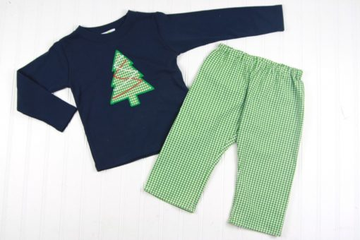 boys christmas pants and shirt