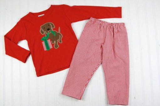 boys christmas shirt and matching pants set