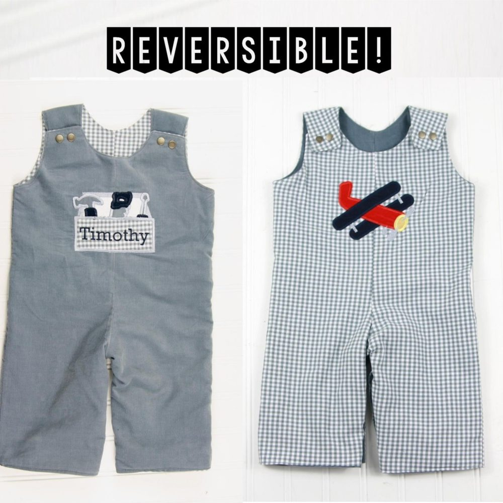 reversible boys romper