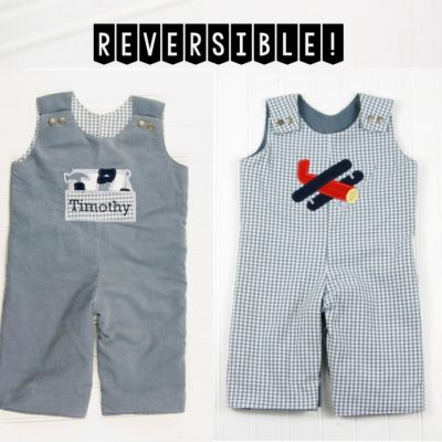 reversible boys romper