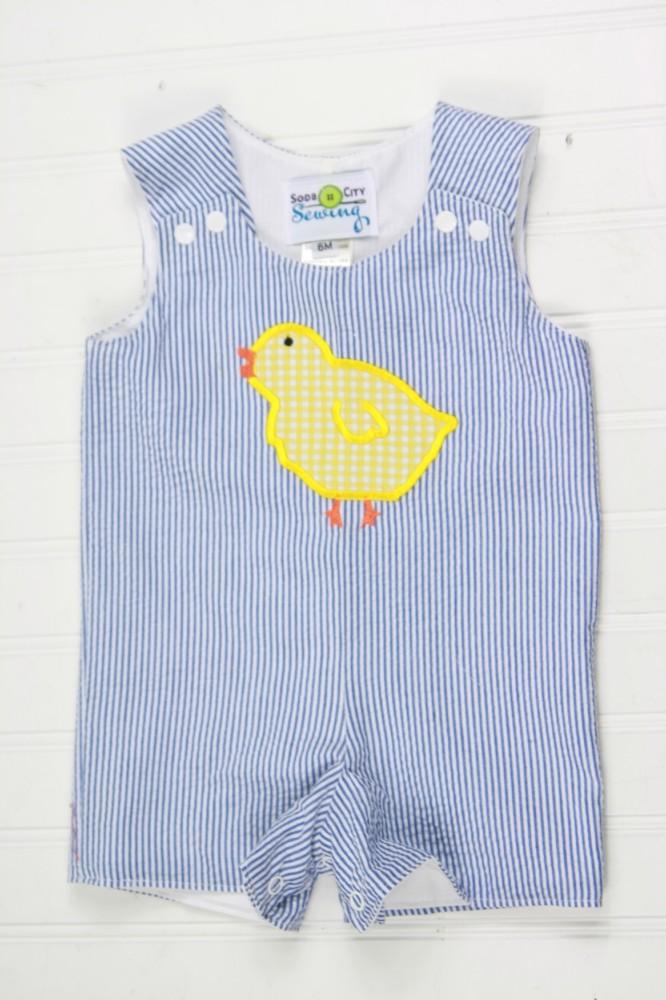 Seersucker Easter Romper For Baby Or Toddler Boys