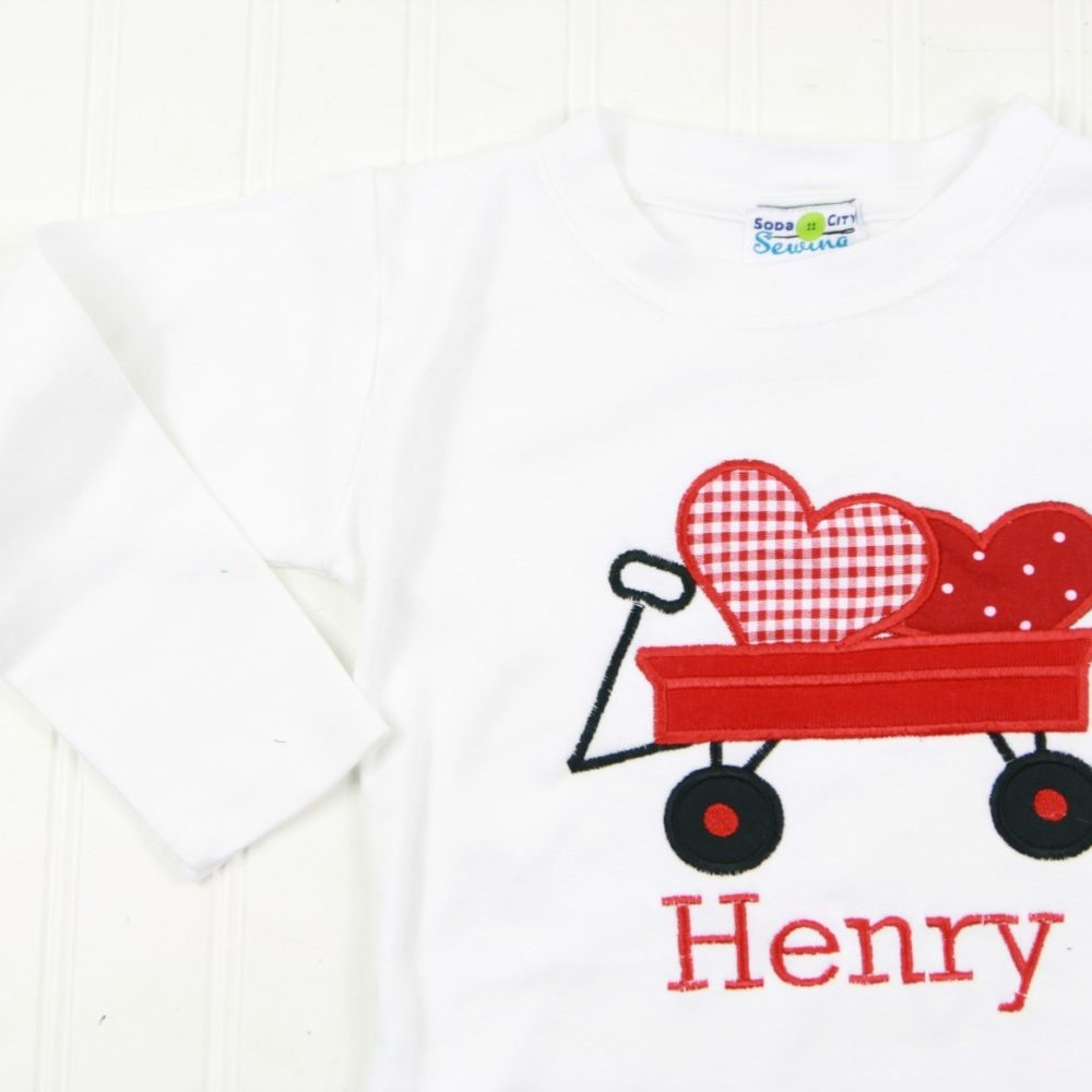 white wagon valentines shirt