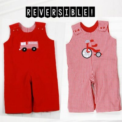 reversible fire truck outfit for boys