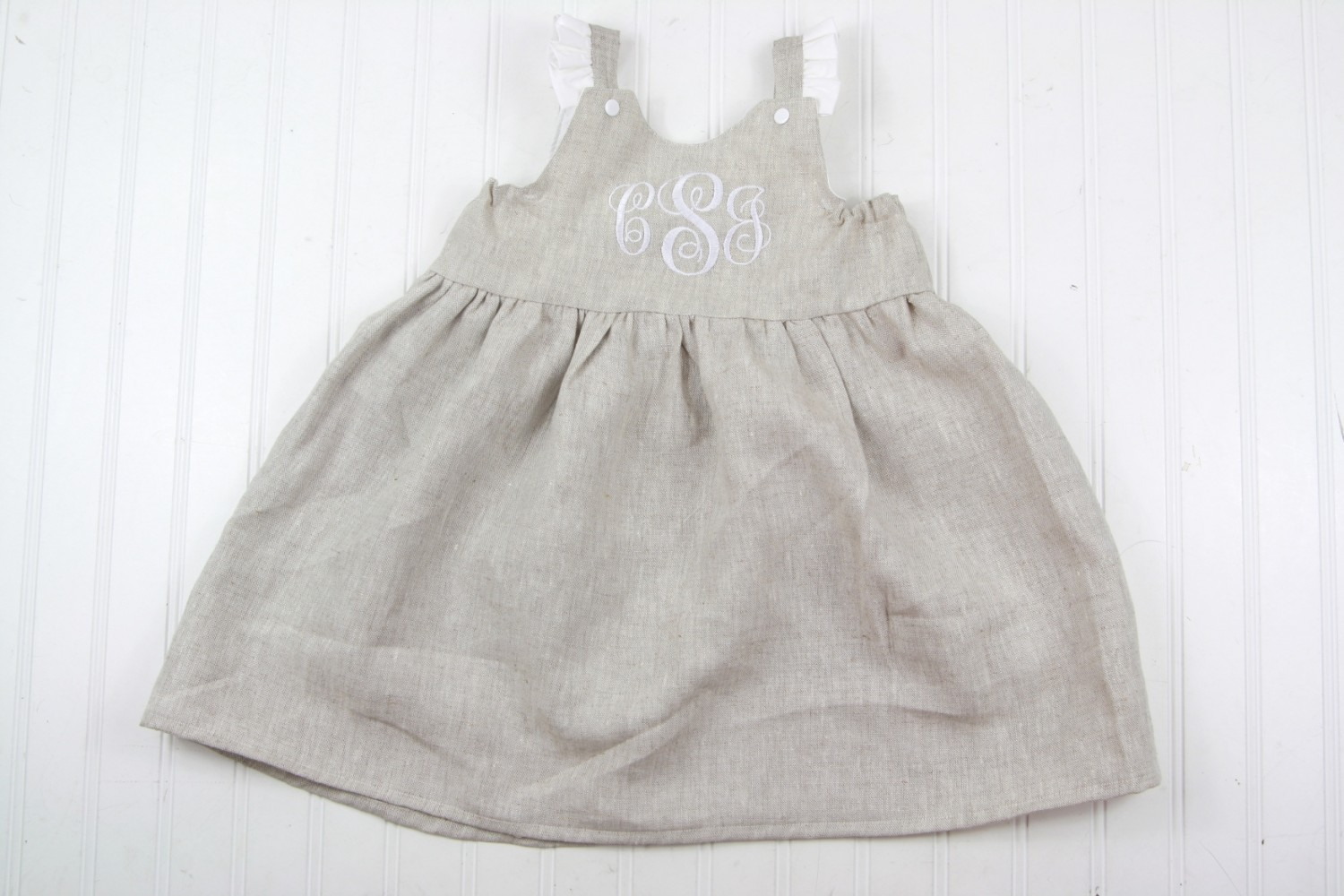 0ba5cd344451 Baby or Toddler Linen Dress- Easter Outfits for NB-5T
