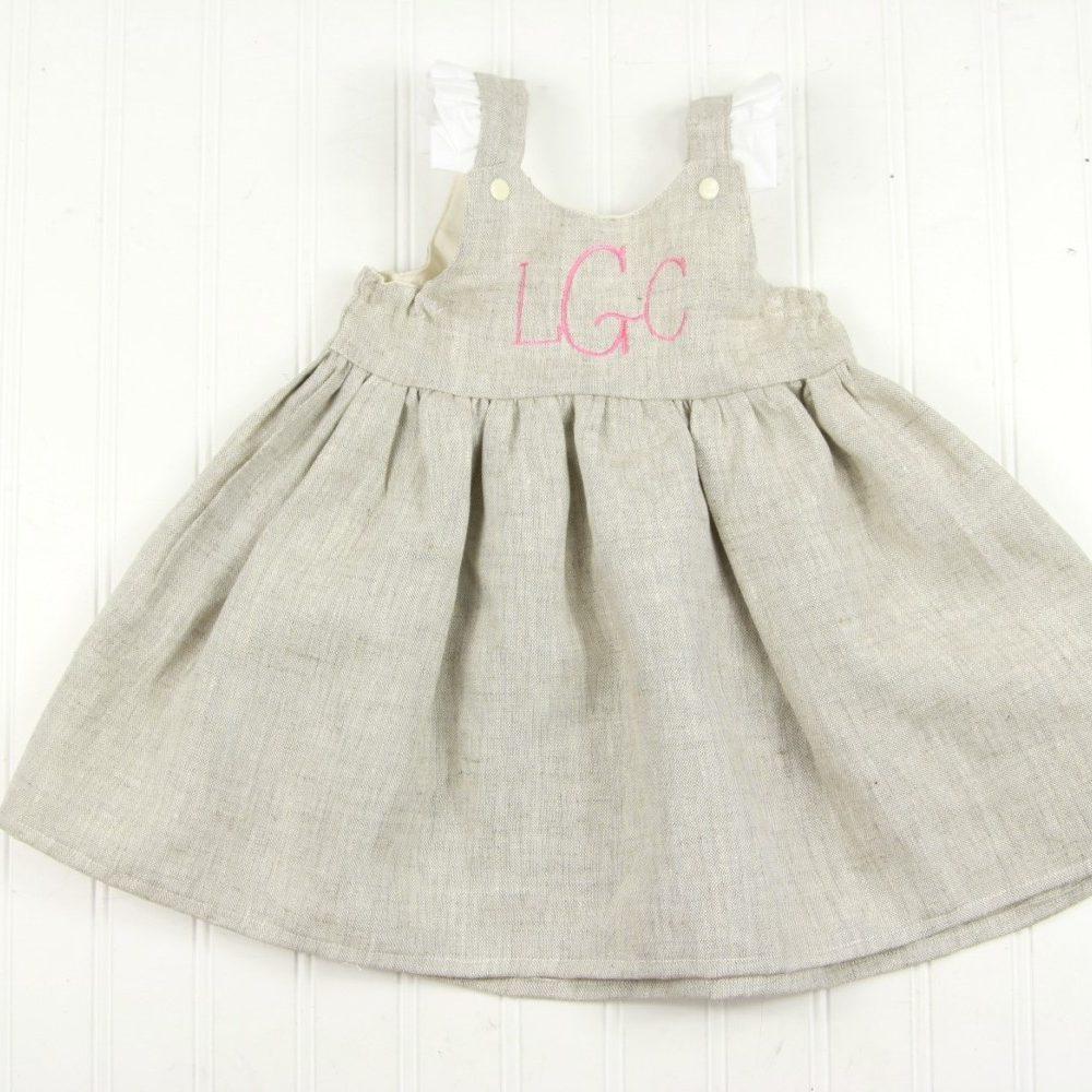 toddler linen dress for easter