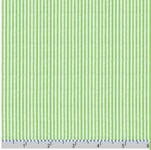 green seersucker stripe fabric