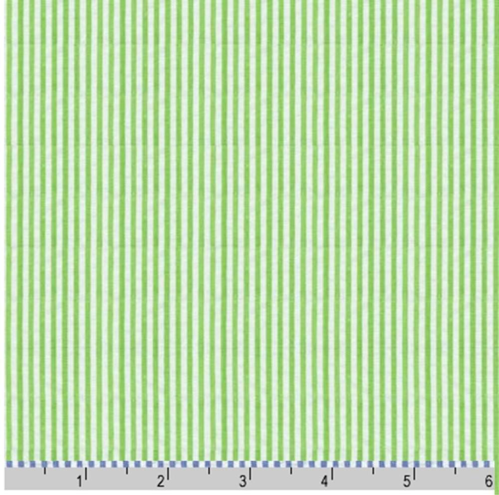green seersucker stripe fabric