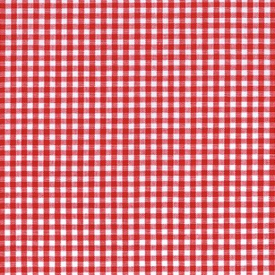 red gingham fabric bty