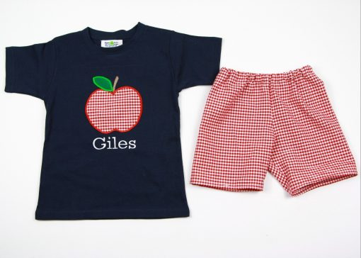 appliqued back to school separates for boys