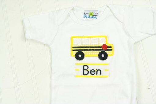 school bus shirt for baby boy