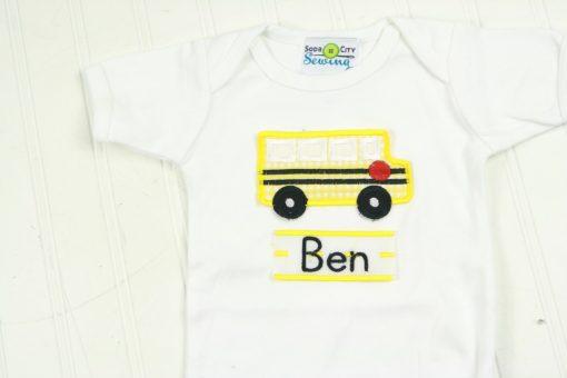 school bus shirt for baby boy