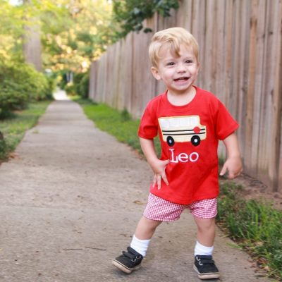 1st day of preschool outfit for boys
