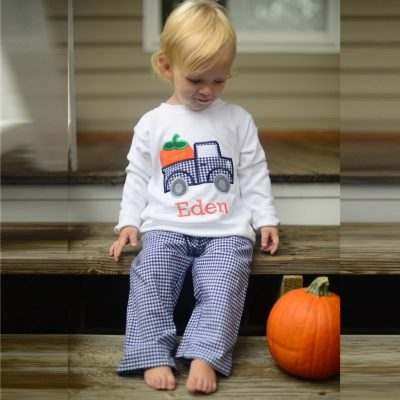 fall pumpkin shirt for boys