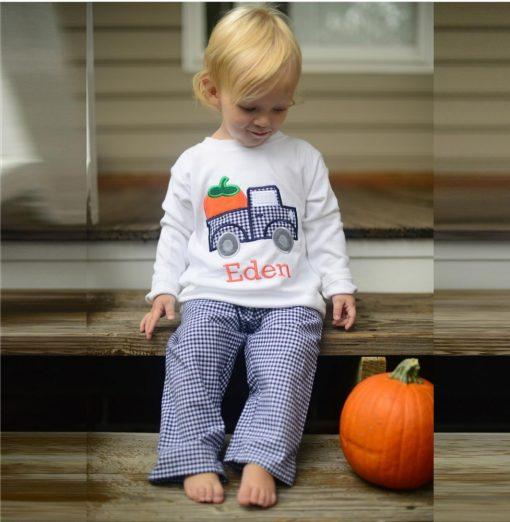 fall pumpkin shirt for boys