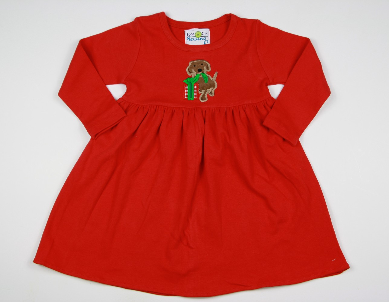 Girls Christmas Dress Red Knit Appliqued Dress Size 6m 5 6t