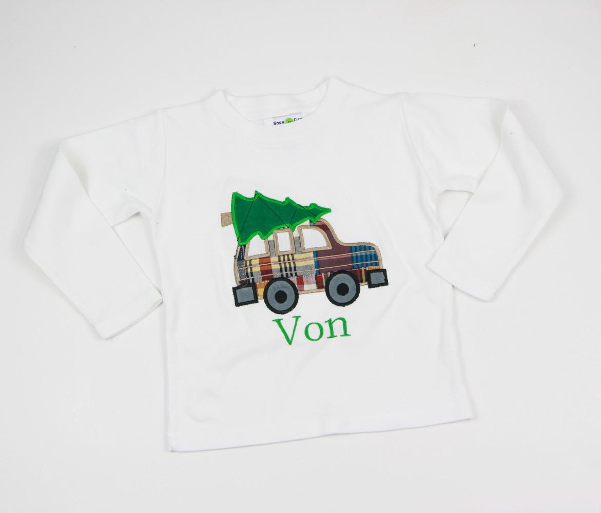 christmas tree car shirt - Christmas Shirts For Boys