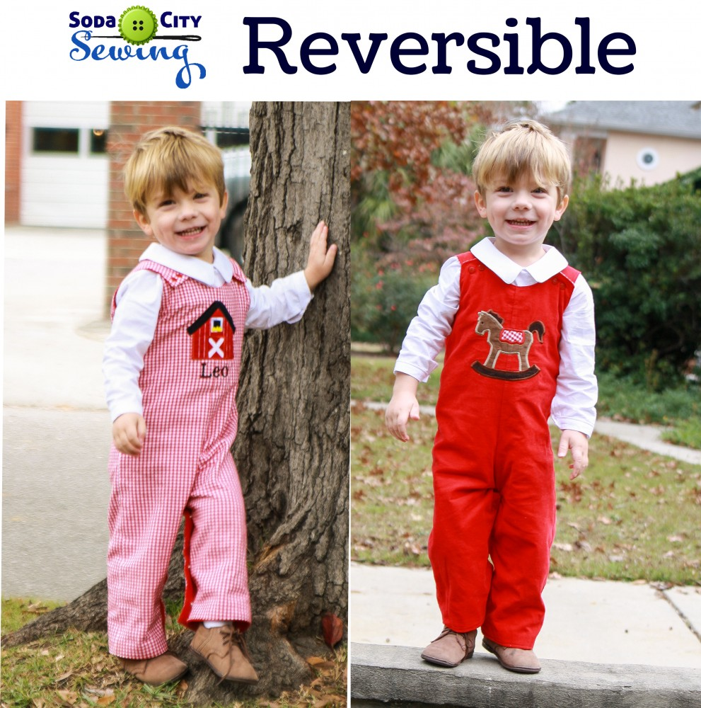 reversible christmas overalls for boys