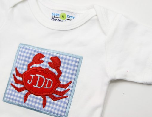 appliqued crab with initials crab outfits-18