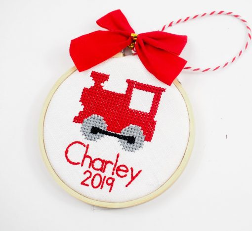 kids train ornament