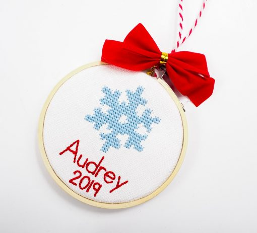 cross stitch ornament snowflake