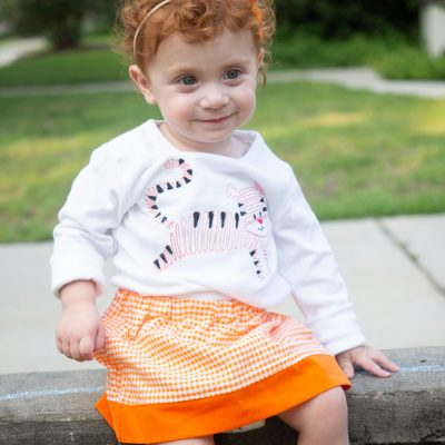 4 girls clemson tigers shirt skirt outfit
