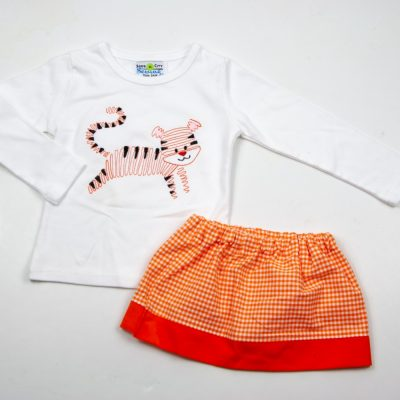 girls clemson tiger shirt skirt