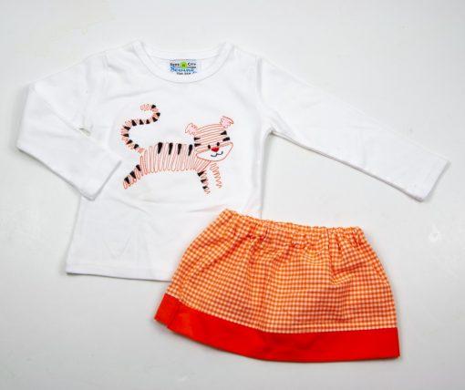 girls clemson tiger shirt skirt