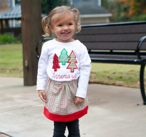 girls christmas tree outfit