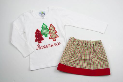 personalized appliqued trees shirt
