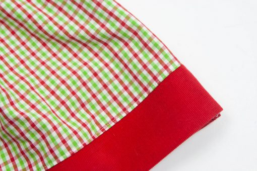 red green gingham christmas