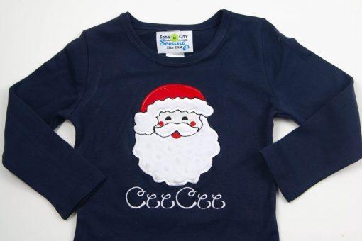 monogrammed santa shirt set