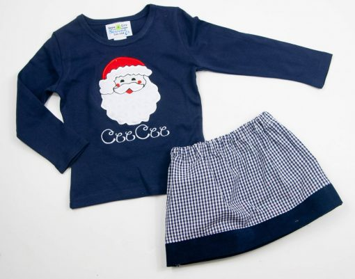 navy girls christmas outfit