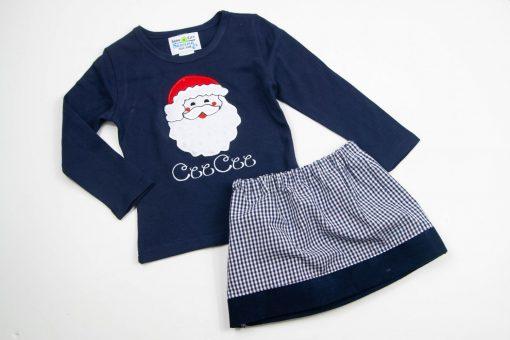 toddler girls santa applique set
