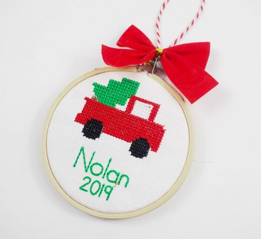 cross stitch ornaments for kids