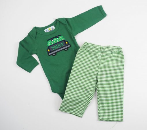 baby boy st patricks day outfit personalized