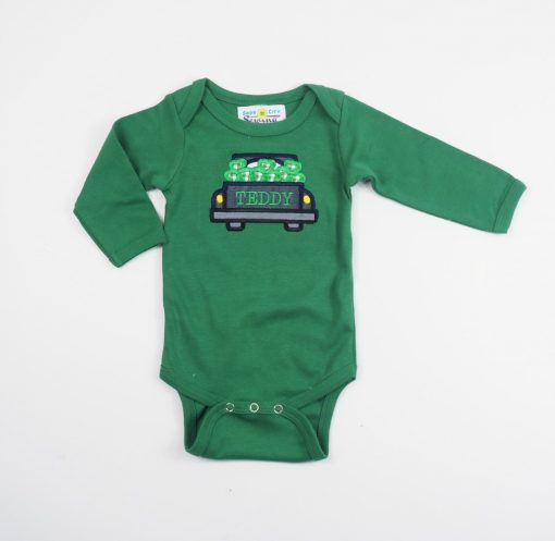 little boys st patricks day monogrammed shirt
