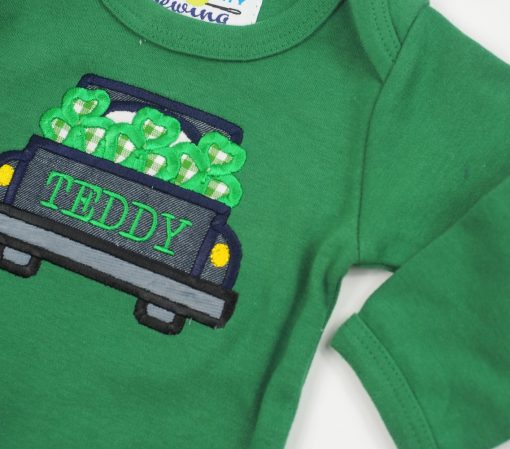 personalized st pattys day bodysuit for baby