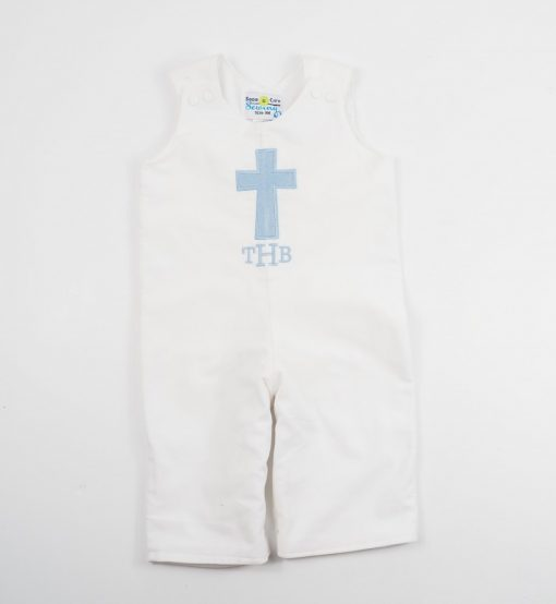 cross baptism embroidered longalls