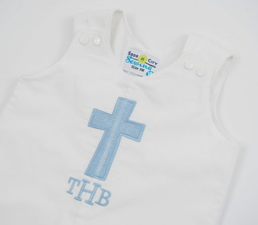 personalized winter baptism outfit
